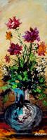 Quadro di Aldo Guglielmo Azzini - Vaso di fiori olio faesite